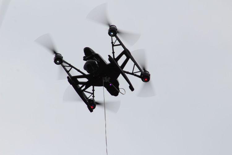 Drone at stadium